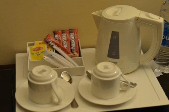 Stella Di Mare Beach Hotel Spa Coffee And Tea Set Up