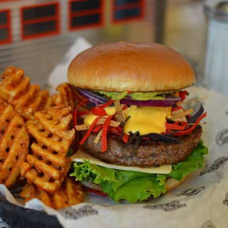 Corvette Diner: Burger and Waffle Fries