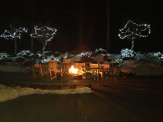The Lodge at Woodloch:                   Fire Pit (lit every night)