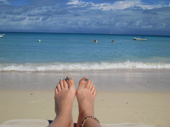 Blue Waters Antigua: On the private beach