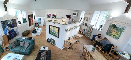 The Congregational Art Gallery and Cafe: Gallery and Cafe Panorama Summer 2012