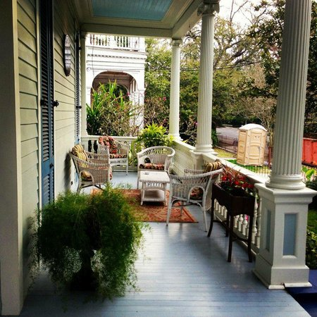 Sully Mansion Bed and Breakfast:                   One side of the porches