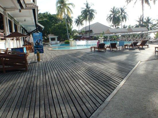 Cape Panwa Hotel:                   Pool area