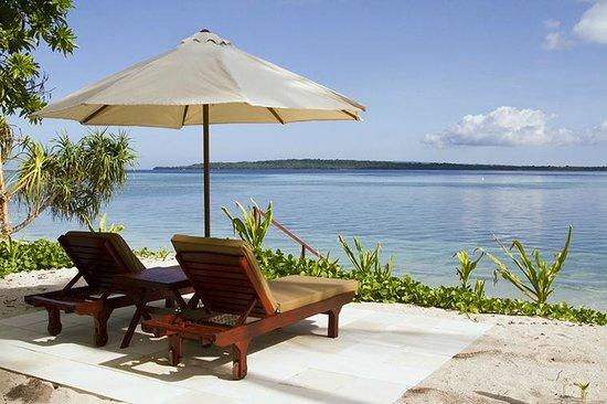 Wakatobi Dive Resort Ocean Bungalow View from Patio