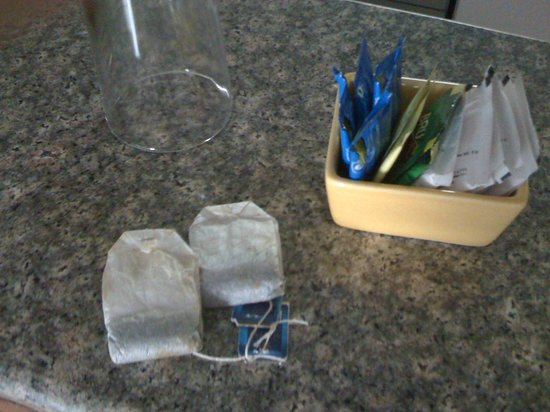 Standford Suites Hotel:                   Tea bags that are open.  How unsanitary!