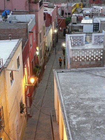 El Zopilote Mojado:                   Lane leading up to Perros Muertos