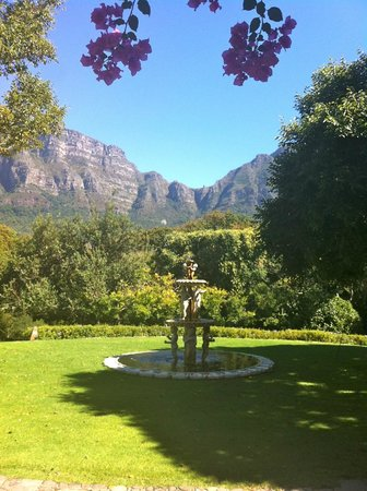 Vineyard Hotel:                   Al Fresco View from Gardens