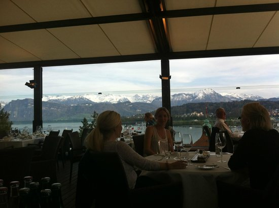 Art Deco Hotel Montana Luzern:                   beautiful dining terrasse