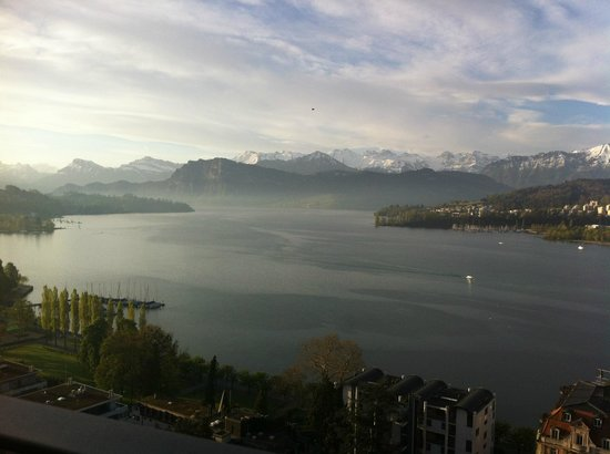 Art Deco Hotel Montana Luzern:                   lake view from penthouse spa suite