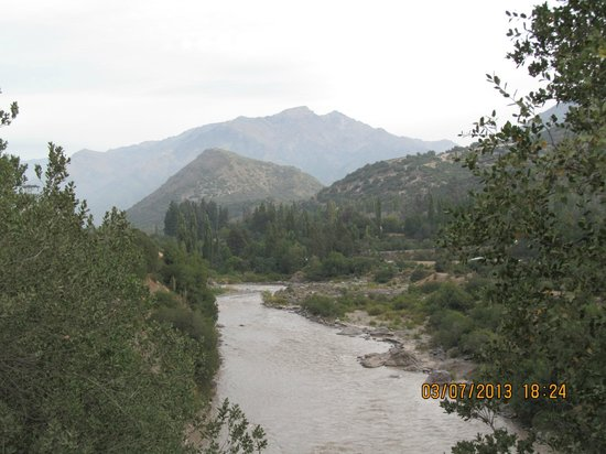 Cascada de las Animas:                   The Maipo River