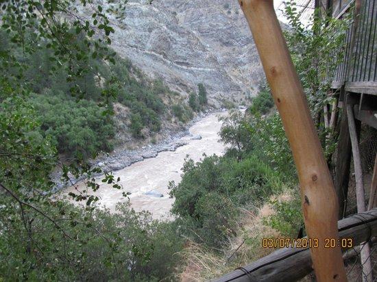 Cascada de las Animas :                   The view from our dinner table