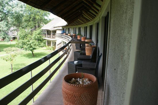 A'Zambezi River Lodge:                   Balcony attached to room