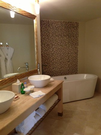Waldorf Astoria Panama:                   Huge bathroom, this is just a little bit of it