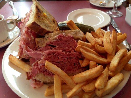 Peter's on Eglinton :                   Reuben Sandwich, Fries and Slaw
