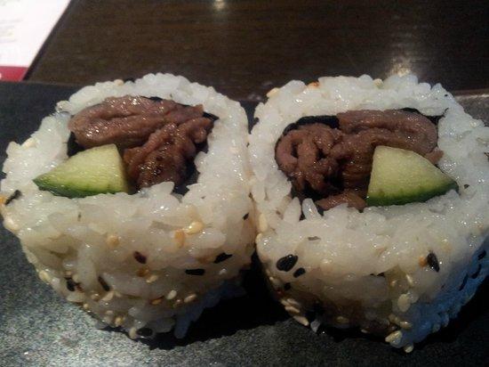 Ginnan Japanese:                   Bulgogi beef sushi