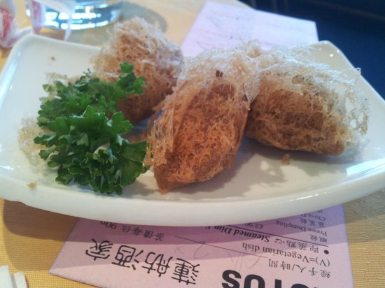 Lotus Chinese Floating: yam croquette