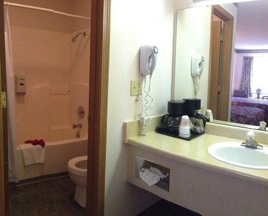 Twelve Oaks Inn: Standard Room Bathroom & Vanity Area