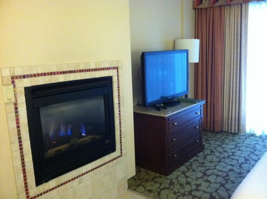 Hilton Garden Inn Wisconsin Dells:                   Cozy Fireplace