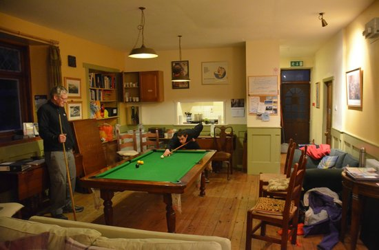 Stationmaster's Lodge:                                     Snooker Table in the main lounge area.