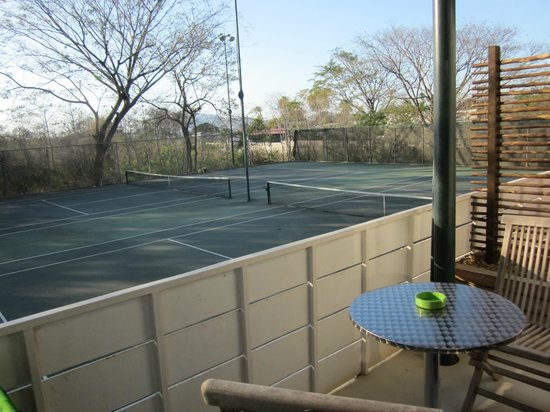 15 love:                   Tennis Courts outside rooms