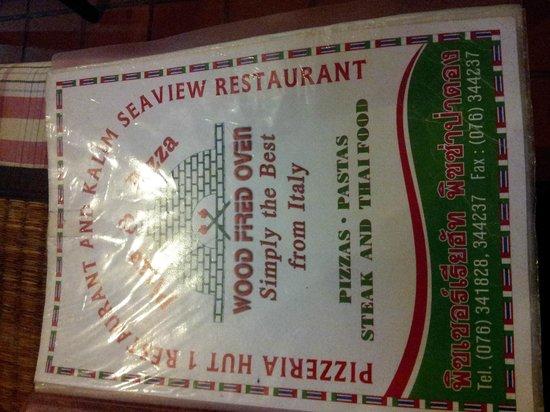 Pizzeria Hut 1 :                                                                                           cover