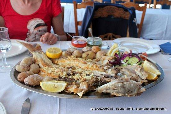 Restaurante El Golfo: Pageot royal grillé