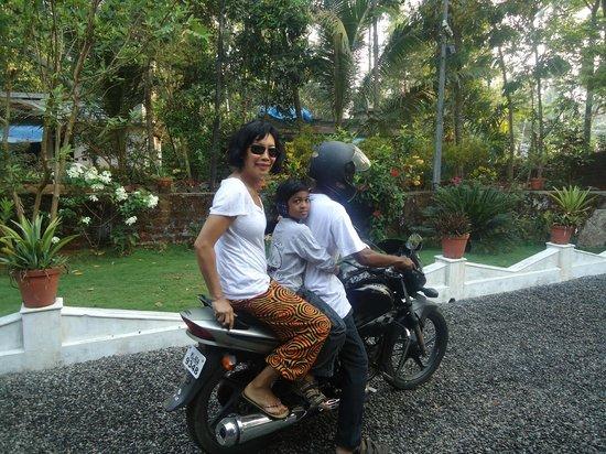 Yogalife Homestay Kerala:                   Motorbike fun!