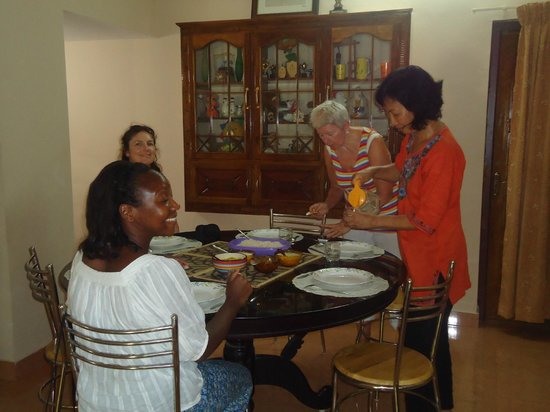 Yogalife Homestay Kerala:                   Yum yum dinner time!
