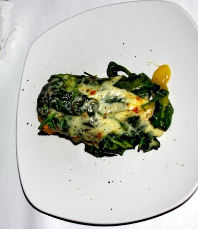 Inglenook: Grilled polenta with spinach & melted cheese