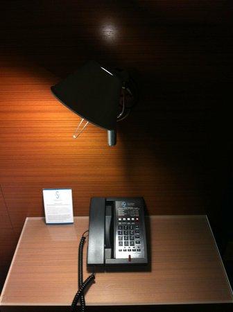 Shore Hotel:                   Shore Guestroom nightstand