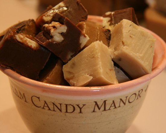 Chatham Candy Manor: A mouthwatering sample bowl filled with our famous fudge!