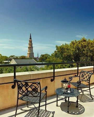 French Quarter Inn: Private Terrace from Suite