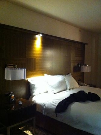 Hilton Times Square:                   king bed