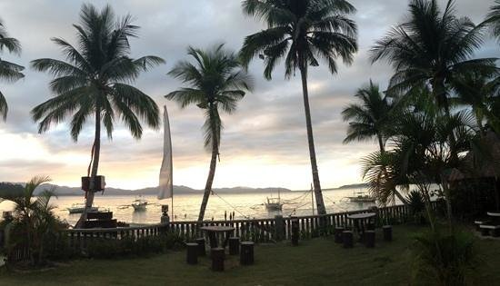 Port Barton, Philippines:                   view from cottages