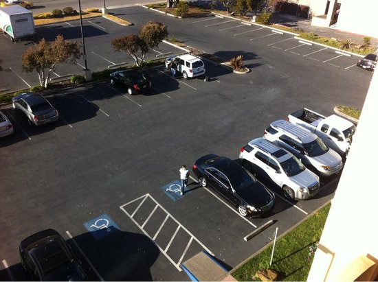 Holiday Inn Express At Monterey Bay:                   The parking lot