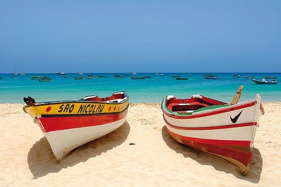 Ilha do Sal, Cape Verde:                   boats