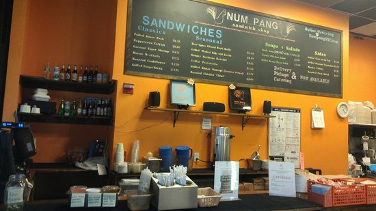 Num Pang Sandwich Shop:                   Order Counter & Menu