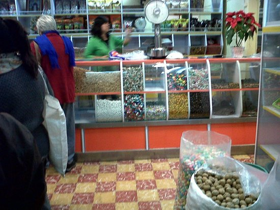 Street of Candies:                                     Various chocolates, nuts and candies sold (Semillas Sto. Dom