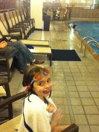 The Plaza Hotel and Suites Eau Claire:                   my 7 yr old Ashlee, my lil water bug :D