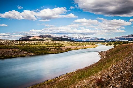 Borgarnes, Iceland:                                     Husafell hiking white river