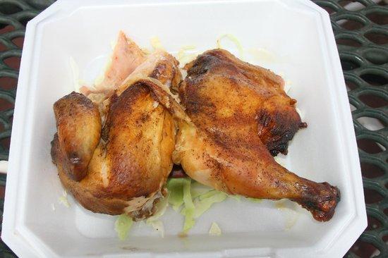 Chicken In A Barrel BBQ:                   Best smoked chicken!!!! Huge portion size. Very tasty!!!!!