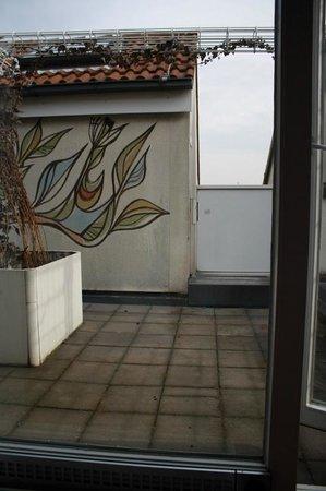 Derag Livinghotel Nurnberg:                   Terrace from Bedroom
