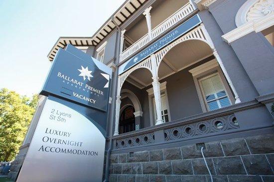 Ballarat Premier Apartments : the beautiful facade of ballarat premier