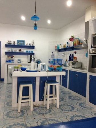 Be My Guest Bed and Breakfast:                   Greece design kitchen inspired by host's traveling experience, luv it