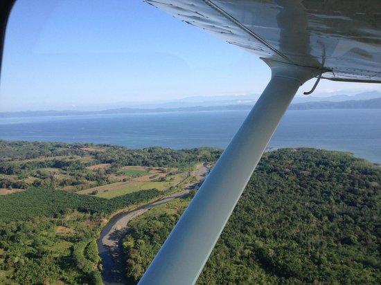 Lapa Rios Ecolodge Osa Peninsula:                   Private Airplane Leaving Corcovado National Park
