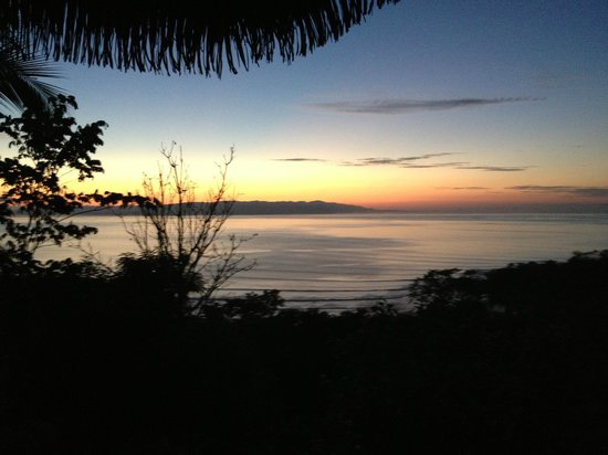 Lapa Rios Ecolodge Osa Peninsula:                   Sunrise from Deck of Room 4