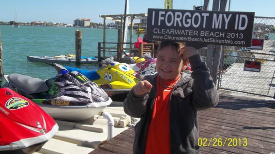 Clearwater Beach Jet Ski  Rentals and Guided Tours: dont forget your id, no id no tour