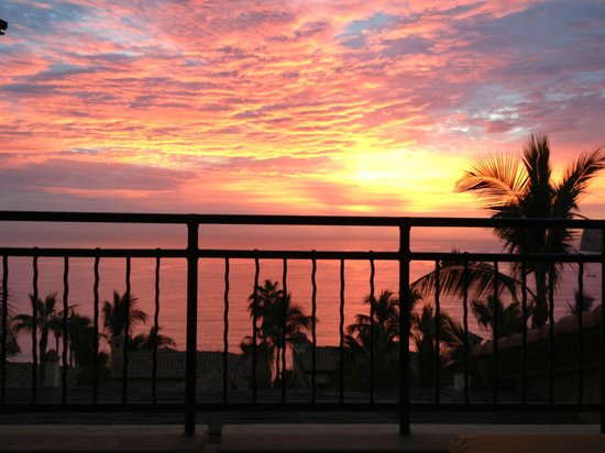 Hacienda Beach Club & Residences:                   Sunrise from the Porch