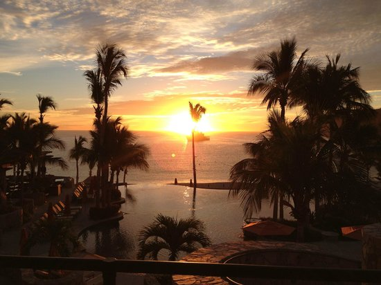 Hacienda Beach Club & Residences:                   Sunrise at the Pool