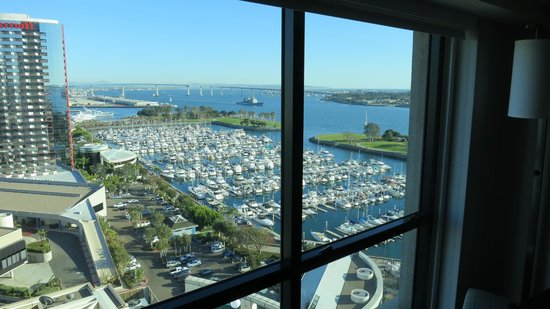 Manchester Grand Hyatt San Diego:                                     My view from Room 1517